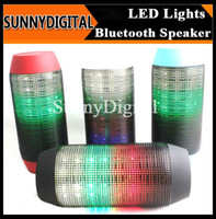 Wholesale For iphone galaxy s6 s5 Wireless Bluetooth Portable Pulse Mini Speakers Colorful LED lights Speaker TF card Music Sound Box Party Xmas