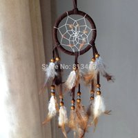 Wholesale 3 Colors mixed indian feather dream catcher with feathers wind bell wall hanging home car decor DHL