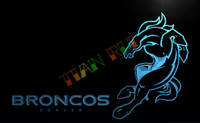 advertising football - LA128 TM Denver Broncos Football Club Bar Neon Light Sign Advertising led panel jpg