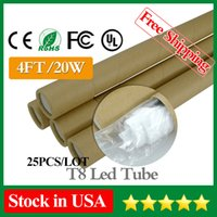 tube light - Stock in USA LED Tube FT W Pieces mm Led Bulbs Tubes Light AC85 V LM SMD2835 Indoor Lighting Lamp Fedex CE UL