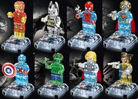 building block - 480pcs lotSuper Heroes crystal Building Blocks minifigures figures