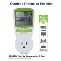 Wholesale 2015 Digital Power Meter Energy Monitor with Overload Protection Function US Plug Measures Power W Energy kWh Volts