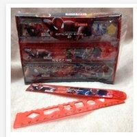 folding ruler - 2015 Children Student Spiderman Rulers cm Big hero School Drafting Supplies folding ruler box frozen R734
