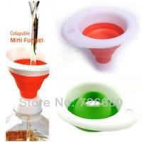Wholesale New Retractable Telescopic Mini Portable Stretch Funnel Silicone Usable Colorful Funnels