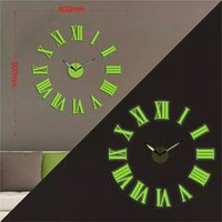 Wholesale D big size Luminous roman numerals wall clock acrylic watch DIY brief living room decor meeting room wall clock
