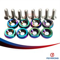 Wholesale PQY STORE NEO CHROME HIGH QUALITY Fender Washers set washers and bolt For Honda Civic Integra RSX EK PQY FW21CR