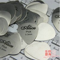 Wholesale pieces Alice mm stainless steel guitar pick guitar plectrum more COOL high quality