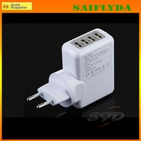 Wholesale for USB Wall Charger V A power adapter with EU AU UK US plug for iphone s for Samsung S5 DHL