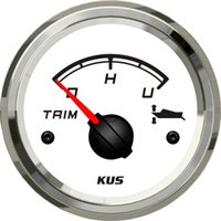 Wholesale 52mm white faceplate Trim gauge tilt trim gauge ohm stainless steel for the inboat yacht