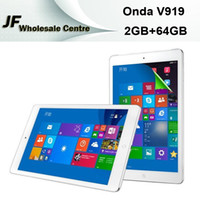 Cheap 9.7inch Onda V919 3G Air Dual Boot 64GB Tablet PC 2GB 64GB Intel Z3736F Quad Core Phone Call Free Switch Windows8.1 & Android4.4