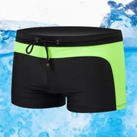 Wholesale New Men s Swimming Swim Trunks Shorts fashion Swimwear men XL XXL XXXL water sports beach swimsuit colors plus size hot