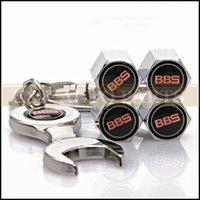 bbs valve stems - GPS BBS Logo Emblem Car Wheel Tyre Tire Valve Dust Stems Air Caps With Wrench Chain For BBS