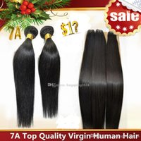 Natural Color indian hair wholesale - Brazilian Hair Remy Human Hair Extensions Peruvian Malaysian Indian Cambodian Hair Weave Straight Hair Bundles A Quality Accept Return