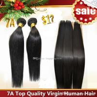 brazilian straight hair - Brazilian Hair Remy Human Hair Extensions Peruvian Malaysian Indian Cambodian Hair Weave Straight Hair Bundles A Quality Accept Return