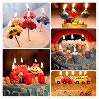 baby girl cake topper - 5 Patterns Cake Candles Birthday Party Decoration Cars Buses Girl Boy Baby Bottle Shape Smokeless Topper Enclosed Wooden Stick