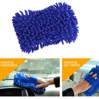 Wholesale 30pcs Microfiber Snow Neil fiber high density car wash mitt car wash gloves towel