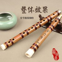bamboo musical instrument - ZXL002 type Freeshipping Chinese Bamboo flute Dizi for professional player copper joint coffee wire Key C D E F G musical instrument