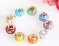 Wholesale Best price Glass Bead Fit Charms Bracelets Big Hole Loose Beads For Pandora Fashion Jewelry
