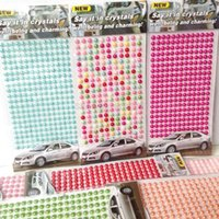 Wholesale 2015 Hot Sale Accessories Motorcycle All Mixed Colors Gems Heart Acrylic Sticker for Crystal Car Stickers