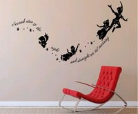 Wholesale Elf Peter Pan Pure Children Cartoon Wall Family Kindergarten Children Room Decoration Stickers Welcome To Figure Make To Order