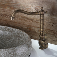 antique faucet valve - Cloud Power Antique Faucets Taps with Brass Ceramic Valve Core Bathroom Sink Faucet Gold with Single hold A F056