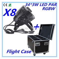 air disco - W RGBW LED PAR Flight Case DMX control par led Air box Discos lights of professional DJ equipment