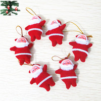 Wholesale Home christmas toy Cheap Cute Xmas Decor Santa Claus Ornament Hanging Christmas Decoration Toys sale