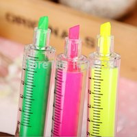 Wholesale 2000PCS Syringes Highlighters School Office supplies cute pens for kids Festival Birthday gift finecolour markers