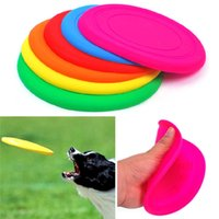 Wholesale Hot Sales Dog Puppy Cat Pet Training Fetch Toy Frisbee Flying Disc Silicone CX277