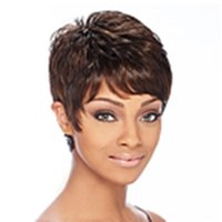 fashion hair short wig - Freeshipping Popular Brown Hair Lady s Synthetic wigs Fashion Short wig