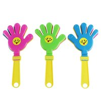 Wholesale New stylish Plastic Hand clapper clap toy cheer leading clap for Olympic game football game Noise Maker Baby Kid Pet Toy WJ0179