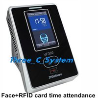 Wholesale ZK VF300 Facial RFID card Khz Time Attendance Device TCPIP Employee Working Time Count Face to do Attendance vf300