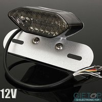Wholesale Bright Shockproof Waterproof V LED Motorcycle Quad ATV Brake Tail License Plate Light