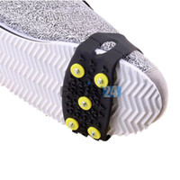 anti slip overshoes - 5pairs Outdoor Safe Skiing Anti slip Overshoes Non slip Climbing Snow Step Ice Cleats New and Hot Selling