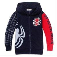 Wholesale Spiderman Marvel Movies Spring Autumn Long Sleeve Zipper Boys Hoodies Kids Cartoon Pure Cotton Jacket Children Casual Clothes Coat Child