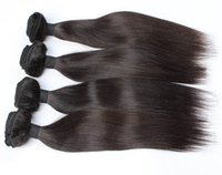 Wholesale natural color Hair Extensions Virgin Hair b Straight A Unprocessed Virgin Hair Weave Straight Virgin Hair