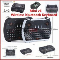 audio keyboards - V6 Multi Function GHz Mini Wireless Gaming Keyboard Air Mouse V6 Touchpad MIC Audio Chat for Laptops Smart TV Box Mini PC