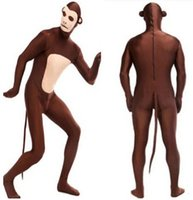 adult performers - 2016 Hot Monkey Zentai Adult Stage Outfits Catsuit BodySuit Tights Cartoon Anime Costumes Mascot Costumes Performers