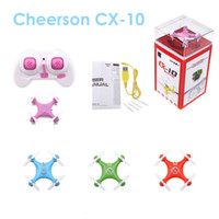 Wholesale Cheerson CX CX10 G Remote Control Toys CH Axis RC Quadcopter Mini rc helicopters Radio Control Aircraft RTF Drone