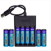 1.5v battery charger - 8pcs KENTLI v mWh Li polymer li ion polymer lithium rechargeable AA battery batterie channels bays Charger chargeur