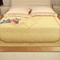 Wholesale Characteristic Bamboo Bed Mat for Double Bed Summer Floor Mat Love Pattern Design for Sale LX1526