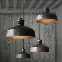 Wholesale Loft creative lamp European style restaurant lamp Bar aisle retro industrial single head lamp iIron art pendant lamps