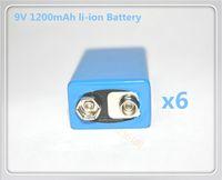 Wholesale 6PCS High power capacity Etinesan V mAh li ion Battery Smoke Alarms Wireless Cameras Wireless Mics Battery