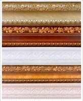 Wholesale PVC Waterproof waistline wallpaper rolls skirting wall paper borders tile stickers for home decor Wallpaper border