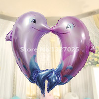 big balons - 5pcs Large Dolphin Foil Helium Air Balloon Birthday Party Wedding Decoration Big Balons Animal Pet Kids Gift Favourite Toy
