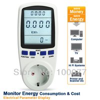 Wholesale EU TS A Digital Wattmeter Power Analyzer Electronic Power Energy Meter Automatic Kwh Power Switch