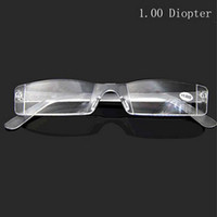 Wholesale Lightweight Transparent color Rimless Resin Magnifying Reading Glasses Presbyopic Glasses