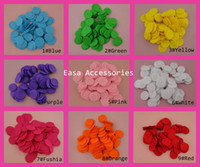 bargain flowers - 800PCS multiple color cm flower round felt flower circle Nonwovens patch good quanlity circle felt pads Bargain for Bulk