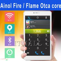 Wholesale Ainol NOVO FIRE Flame octa core AX7 G phablet Android MTK6592 tablet pc quot FHD IPS screen GB G mobile phone tablet PC
