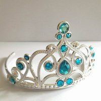 Wholesale In Stock Hot Sale Shiny Girls Head Pieces With Rhinestones Tiara Little Girls Cosplay Party Flower Girl Wedding Bridal Tiara Hair Crown